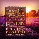 1 Chronicles 29:11 Verse Lavender Field Print by ScripturePics