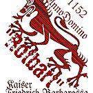 Emperor Barbarossa.. Dragon Leopard coat of arms by edsimoneit