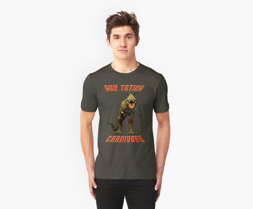 Gun Toting Carnivore II T-Rex by Larry Oates