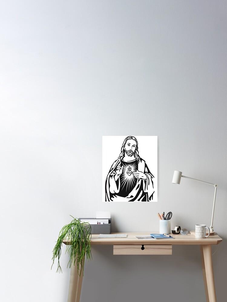 Jesus Christ Of Nazareth Artwork T Shirt Original Gift Idea Poster