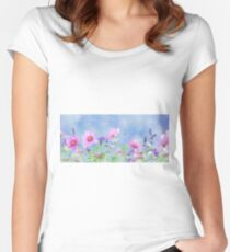 Macro- Wildflowers Women's Fitted Scoop T-Shirt