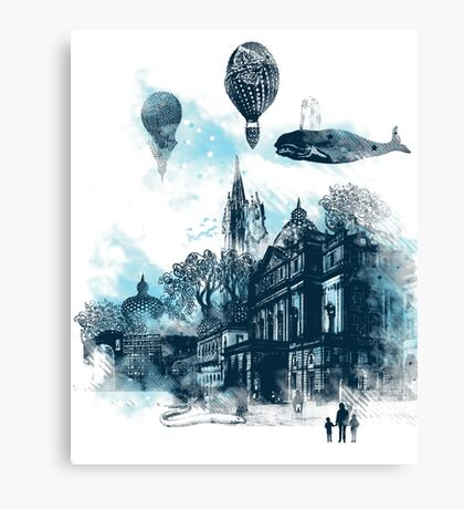 strange town Canvas Print