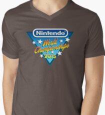 Nintendo World Championships 2015 Logo Men's V-Neck T-Shirt