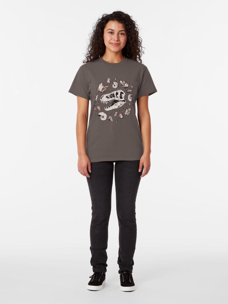 Alternate view of Geo-rex Vortex | Rose Quartz Classic T-Shirt