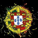 Portuguese Shield Splattered by PortugalRooster