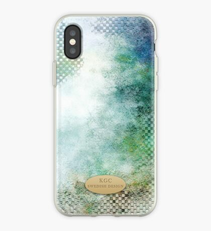 Mobile phone skins bluegreenwhite iPhone Case