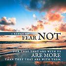 2 Kings 6:16 Verse Ocean Sunset Print by ScripturePics