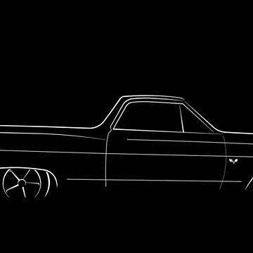 1964 Chevy El Camino - profile stencil, white by mal-photography