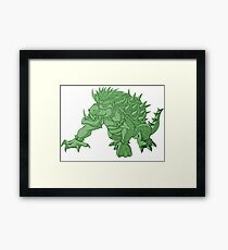 Super Saiyan Bowser (Green Tint) Framed Print