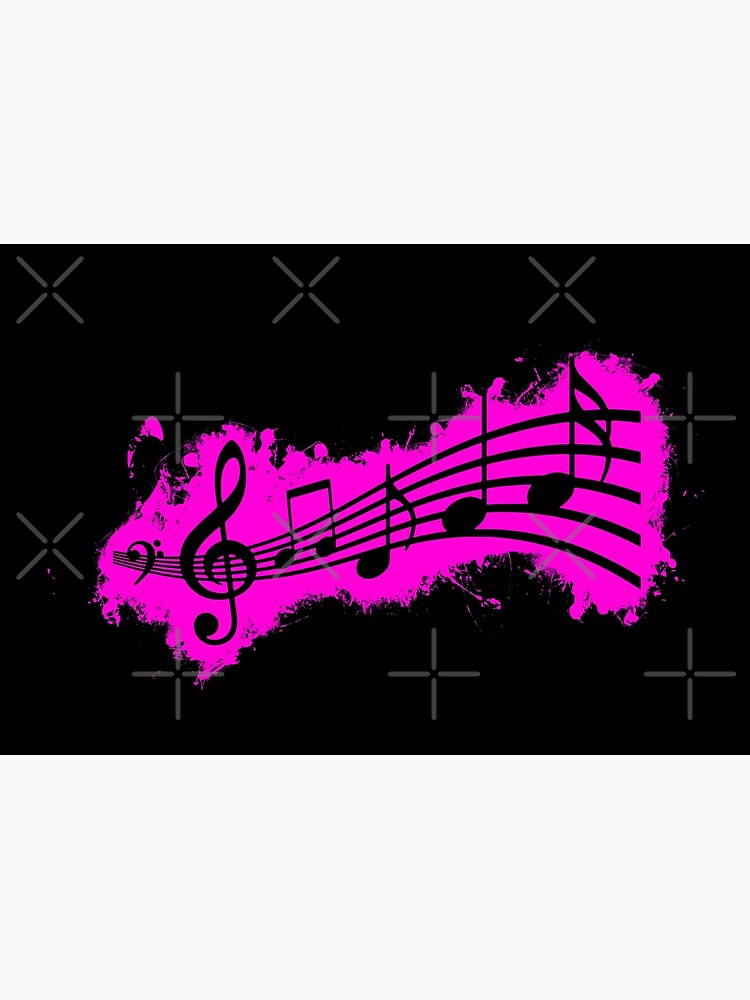 Silhouette musical pink and black silhouette de VincentW91