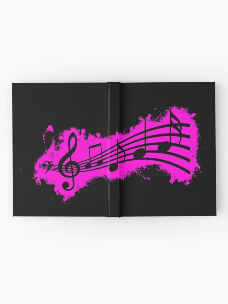 Vista alternativa de Cuaderno de tapa dura Silhouette musical pink and black silhouette