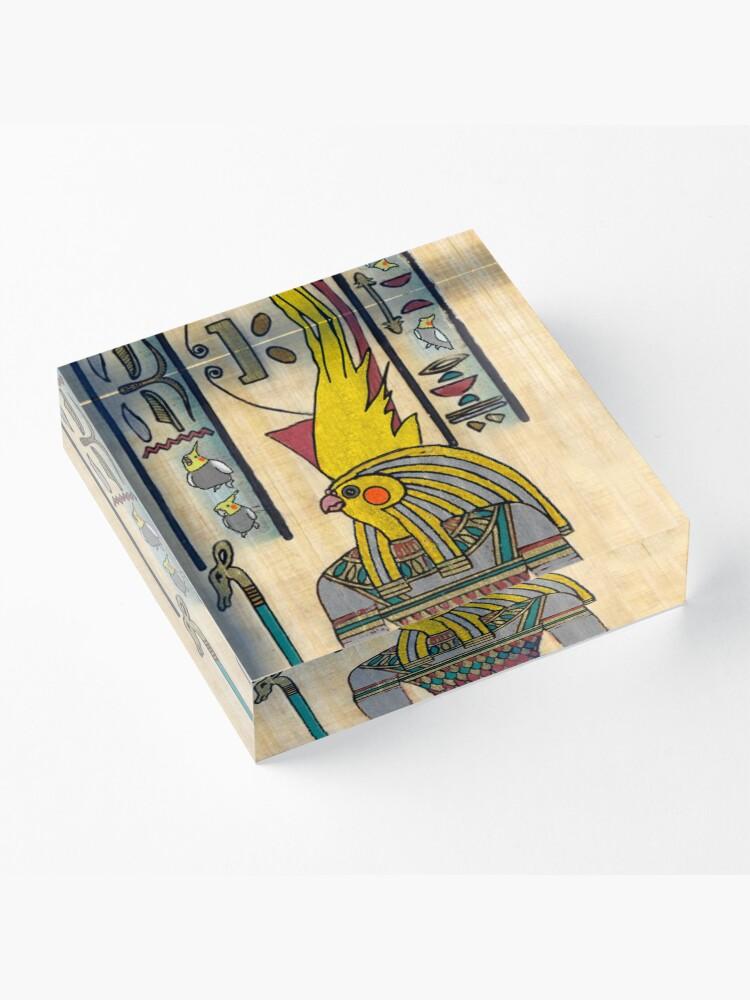 Alternate view of horus cockatiel Acrylic Block