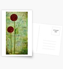 Grow Your Own  Way - Inspirational Floral Postcards