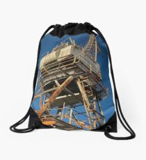 Old Crane Drawstring Bag