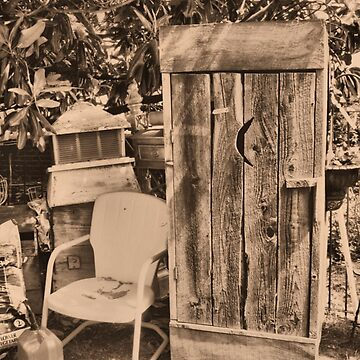 AN OUTHOUSE AND THE NEXT IN LINE, Photo, for prints and products by ArtbyBob