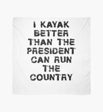 Lustiges Kajak-T-Shirt - ich kajak besser als Präsident Tuch