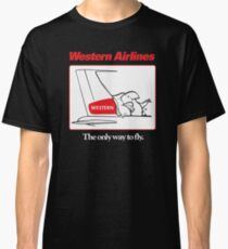 Western Airlines The Only Way to Fly Cartoon Bird Mascot T-Shirt Classic T-Shirt