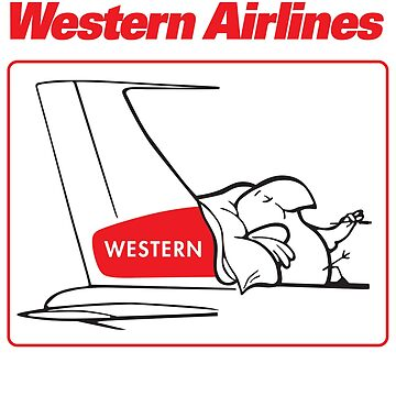 Western Airlines The Only Way to Fly Cartoon Bird Mascot T-Shirt by darkvortex
