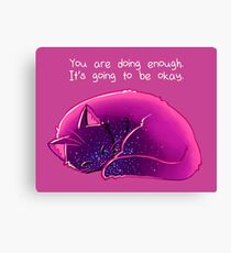 """""""You Are Doing Enough"""" Cat Canvas Print"""