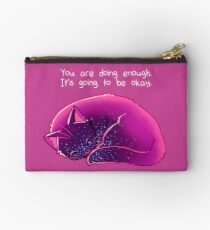 """You Are Doing Enough"" Cat Studio Pouch"