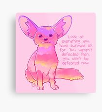 """""""You Won't Be Defeated Now"""" Fennec Fox Metal Print"""