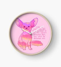 """""""You Won't Be Defeated Now"""" Fennec Fox Clock"""