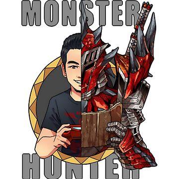 Monster Hunter - Hunter's Life - T-Shirt Merch - Hoodie - Phone Case - Stickers - Monsters - Hunter by HeyZReD