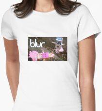 blur design Women's Fitted T-Shirt