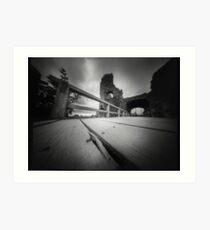 Pevensey castle - Pinhole photography Art Print