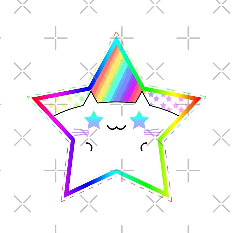 Rainbow Starry Kitty by Rumby