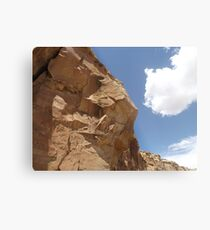 Rock Formation, Chaco Canyon, New Mexico Metal Print