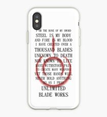 Fate Stay Night Unlimited Blade Works Archer And Shirou Quote With Command Seal iPhone Case