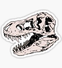 Geo-rex Vortex | Rose Quartz | Dinosaur Skull Fossil Art Sticker