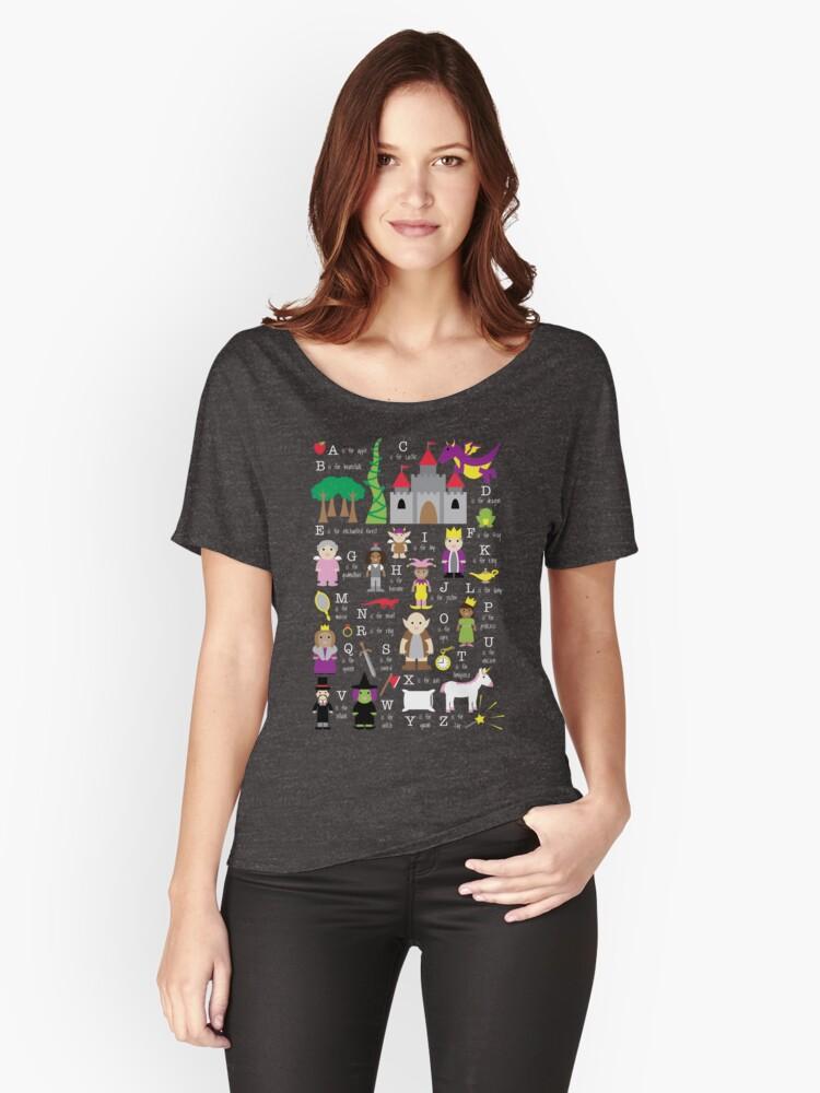 Para Anchas Del Camisetas Mujer Alfabeto De Hadas Cuento «camisa q7xx5Od 43d6c754fcc