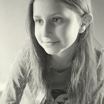 Olivia's Portrait in B&W by Evita