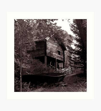 Boatshed, Sweden Art Print