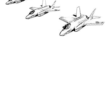 Military Fighter Jets Sketch  by benhonda