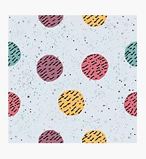 Seamless Pattern with balls Photographic Print