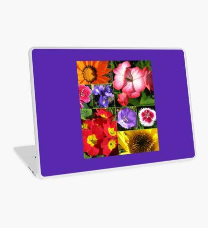 Sunkissed Blumen-Collage Laptop Skin