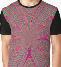 Multicolor Warp Design Graphic T-Shirt
