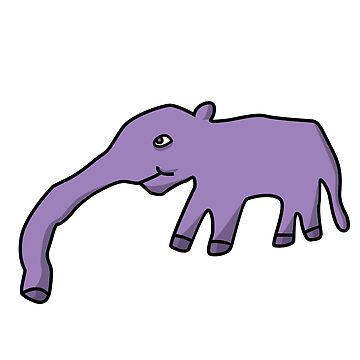 Ugly Cartoon Purple Anteater  by Grimessart
