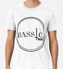 Bassic logo, black print Men's Premium T-Shirt