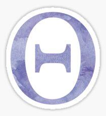 Violet Watercolor Θ Sticker