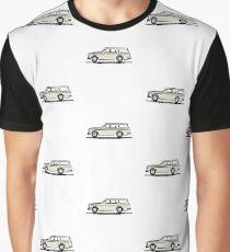 Volvo Amazon Station Wagon Kombi White for Black Shirts Graphic T-Shirt
