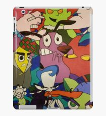 Courage The Cowardly Dog Painting Mixed Media Ipad Cases Skins