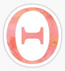 Peach Watercolor Θ Sticker