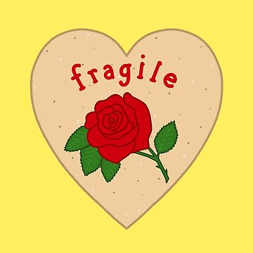 Fragile Mazapan Heart YELLOW by thelamehuman