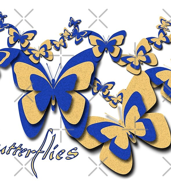 Blue and Yellow Butterflies by CarolM