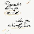 Remember When You Wanted by Angelina Kein