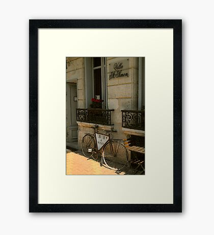 I want to ride my bicycle.... Framed Print